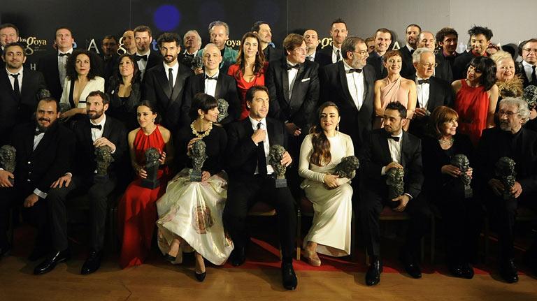 Los premios en la noche de los Goya