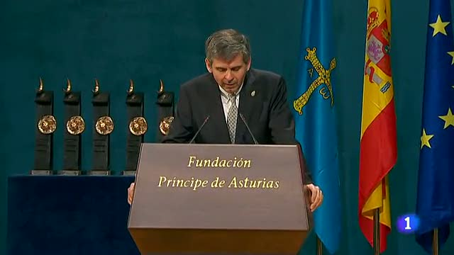 Premios Pr&iacute;ncipe de Asturias-Discurso de Arturo &Aacute;lvarez-Buylla 