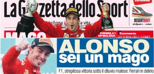 La prensa elogia a Alonso