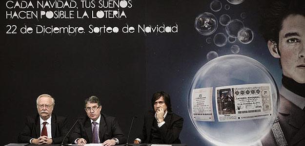 Imagen de la presentación del sorteo de Navidad de la Lotería Nacional.
