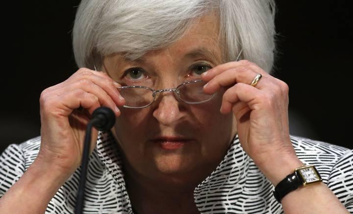 La presidenta de la Fed, Janet Yellen