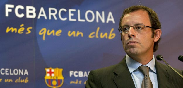 El presidente del FC. Barcelona, Sandro Rosell, en una imagen de archivo.
