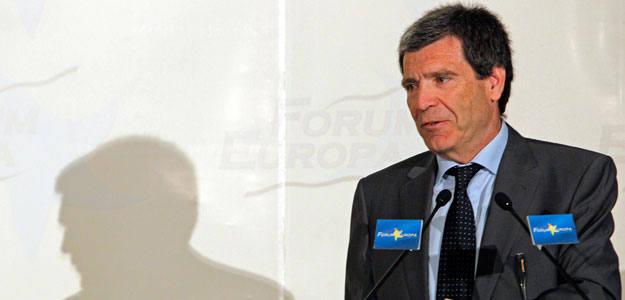 El presidente de la Sociedad Estatal de Loterías y Apuestas del Estado, Aurelio Martínez, en la presentación de su salida a Bolsa