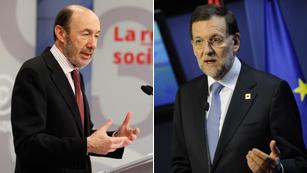 Ver vídeo  'Primer cara a cara de Rajoy y Rubalcaba en el Congreso de los Diputados'