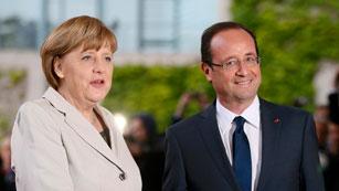 Ver vídeo  'Primer encuentro entre Hollande y Merkel'