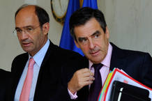 El primer ministro francés junto al ministro de trabajo