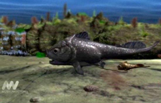 Recreación del parto de un 'dinosaurio de mar'