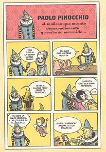 Primera página de 'Paolo Pinocchio', de Lucas Varela