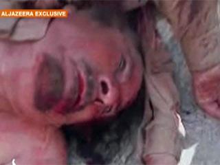 Ver vídeo  'Primeras imágenes de Gadafi muerto'