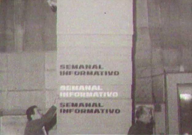 Los primeros decorados del programa, cuando todavía era Semanal Informativo
