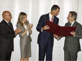 Ver vídeo  'El príncipe ha defendido a la prensa libre en la entrega de premios de periodismo Luis Carandell'
