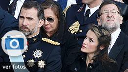 Los príncipes, Rajoy y otros invitados a la misa