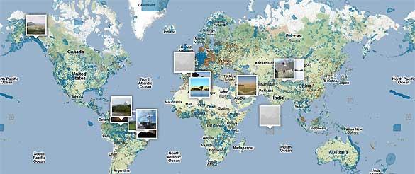 En el wikimundo de la ONU se muestran las áreas protegidas y el objetivo es que la gente contribuya con sus fotos y comentarios.