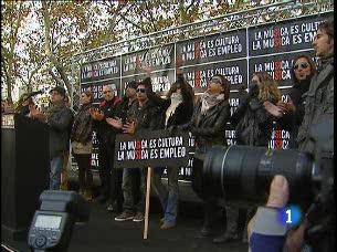Ver v?deo  'Profesionales de la música piden una ley que proteja su trabajo'