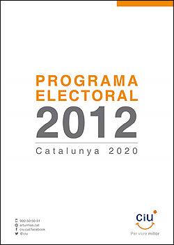 Programa de CIU elecciones catalanas