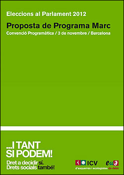 Programa de ICV-EUiA elecciones catalanas