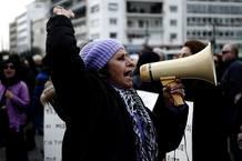 Protesta durante la huelga de médicos en Atenas