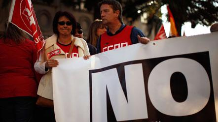 Protesta en Málaga contra la reforma laboral
