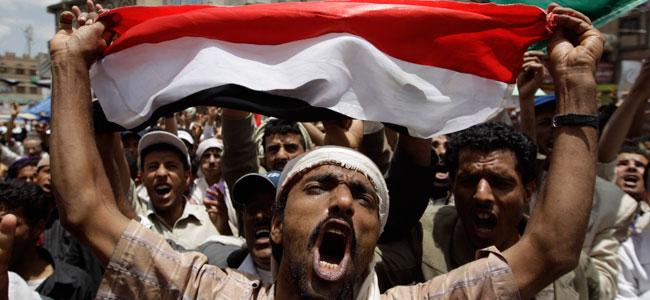 Protestas anti gubernamentales en Saná, este domingo