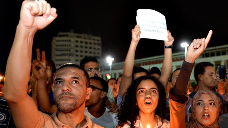 Manifestantes piden que el pederasta español cumpla condena en Marruecos