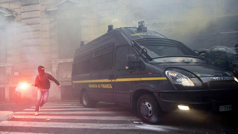 Protestas en Portugal e Italia contra el empobrecimiento y la austeridad