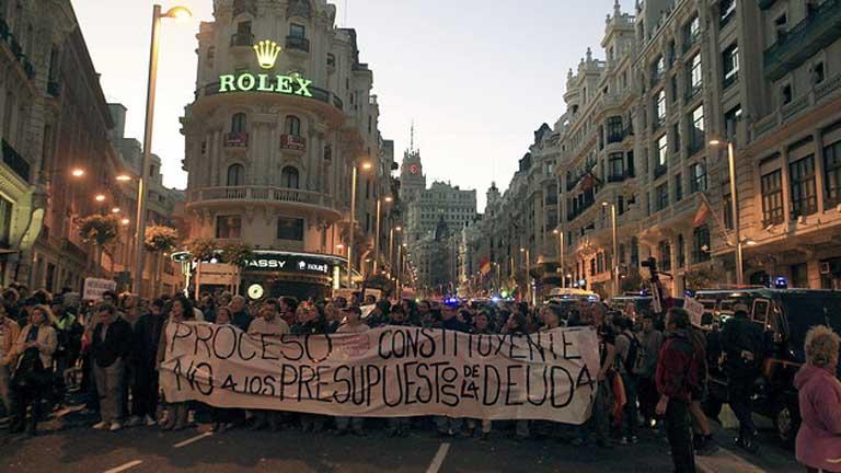 Protestas por los recortes en Madrid y Barcelona