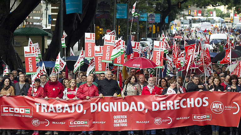 Las protestas de los sindicatos contra la reforma laboral marcan el d&iacute;a del trabajo