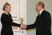 Putin y Tymoshenko en su encuentro en Moscú