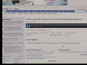 Ver v?deo  'Al Qaeda en el Magreb Islámico ha enviado un comunicado al diario El País'