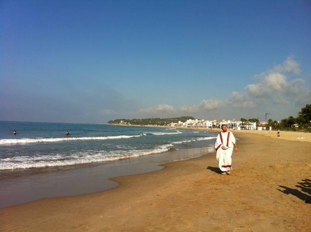 Entrevista a la platja d'Altafulla