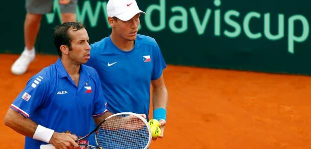 Radek Stepanek y Tomas Berdych representan el potencial y el peligro de la República Checa en la Copa Davis.