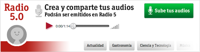 Radio 5.0, crea y comparte tus audios