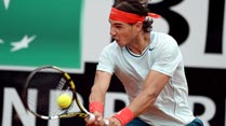 Ir al Video&nbsp;Rafa Nadal remonta a Gulbis en el torneo de Roma