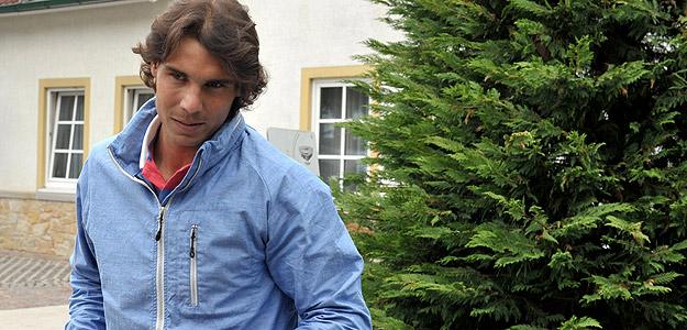 El tenista español Rafa Nadal, en Halle.