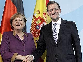 """Ver vídeo  'Rajoy, ante Merkel: """"Hay que conciliar la reducción del déficit con políticas que estimulen el crecimiento y el empleo""""'"""