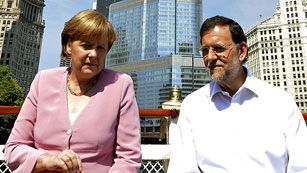 Ver vídeo  'Rajoy dice que Merkel respalda sus reformas'