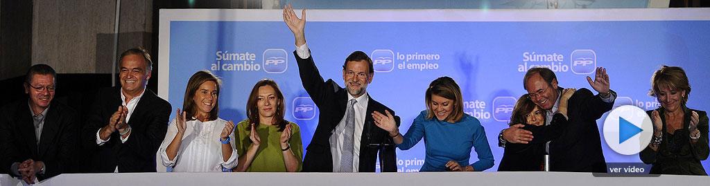 Rajoy logra para el PP una mayoría histórica con 186 diputados y el PSOE se hunde con 110