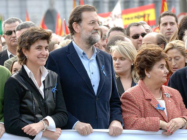 Rajoy en una manifestación contra la política antiterrorista en 2007