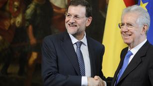 Ver vídeo  'Rajoy y Monti piden por el estímulo de la economía en el próximo Consejo Europeo'