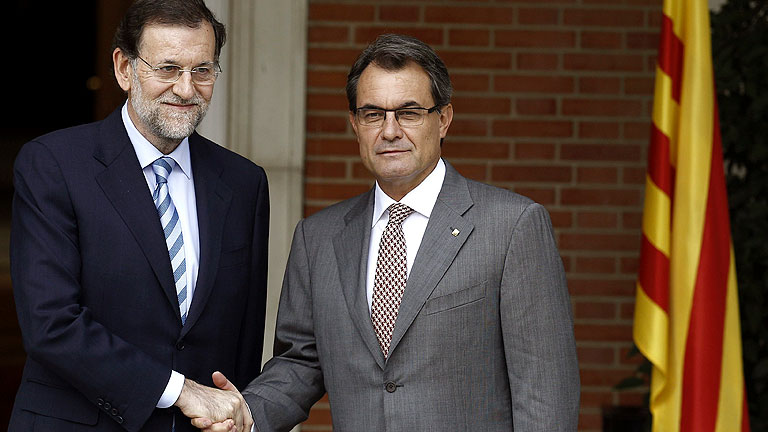 Rajoy recibe a Artur Mas en Moncloa