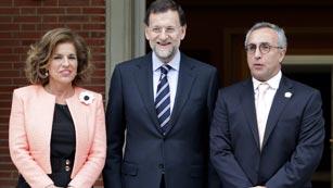 Ver vídeo  'Rajoy recibe a los embajadores de Madrid 2020'