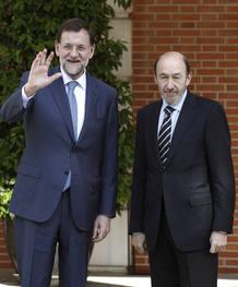 Mariano Rajoy Alfredo Pérez Rubalcaba la Moncloa
