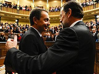 """Ver vídeo  'Rajoy se despide de Zapatero: """"Acertó y se equivocó, como todos""""'"""