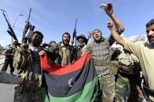 Los rebeldes libios celebran la victoria sobre Muamar el Gadafi