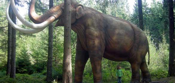 Reconstrucción a tamaño real de un mamut