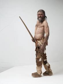 Reconstrucción de Oetzi, el hombre de los hielos