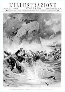 Recreación del naufragio del 'Sirio'