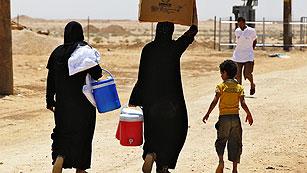 Ver vídeo  'El recrudecimiento de los combates en Siria aumenta el flujo de refugiados a los países vecinos'