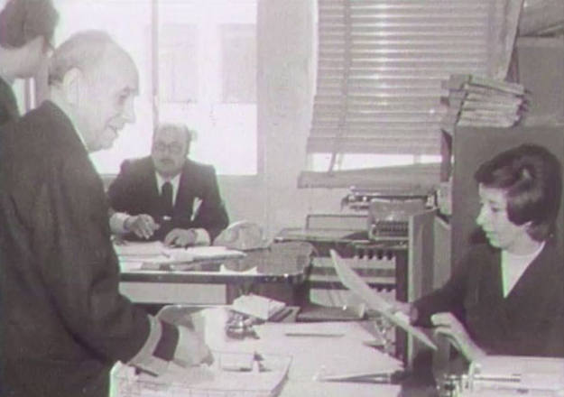 La redacción de Informe Semanal en 1973.