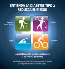 Reduce los riesgos de contraer diabetes tipo 2
